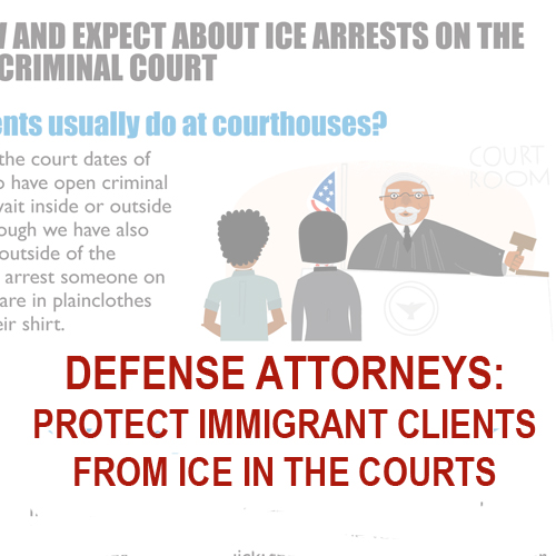 Defense Attorneys: Protect immigrant clients from ICE in the courts
